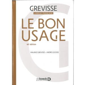Le Bon Usage 16 edition 2017