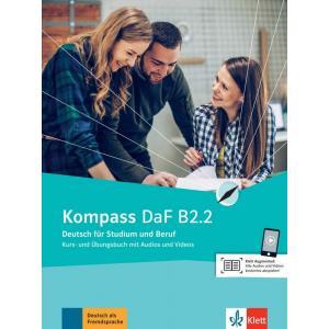 Kompass DaF B2.2. Deutsch für Studium und Beruf. Podręcznik z ćwiczeniami + Audio + Video