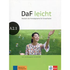 DaF Leicht A2.1. Podręcznik z Ćwiczeniami + DVD
