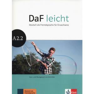 DaF Leicht A2.2. Podręcznik z Ćwiczeniami + DVD