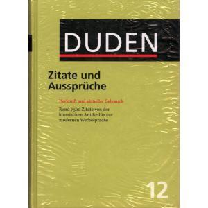 Duden. Band 12. Zitate und Aussprache. 2 ed. HB