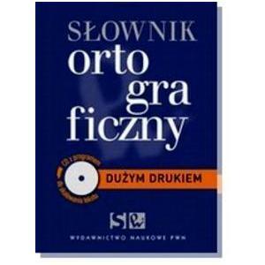 Słownik Ortograficzny Dużym Drukiem + CD z Programem Do Skalowania Tekstu