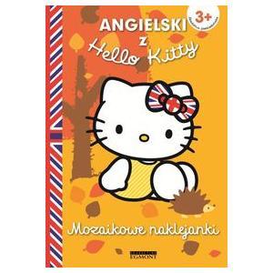 Angielski z Hello Kitty. 3+. Mozaikowe naklejanki. Żółte