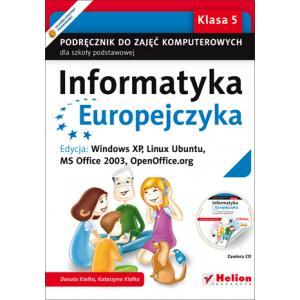 Informatyka Europejczyka. Podręcznik Do Zajęć Komputerowych. Klasa 5. Szkoła Podstawowa