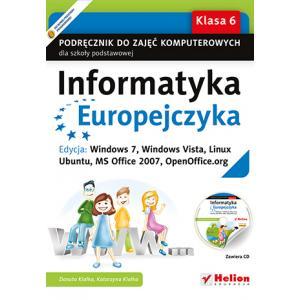 Informatyka Europejczyka. Podręcznik. Klasa 6. Szkoła Podstawowa