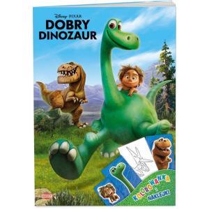 Dobry Dinozaur.  Kolorowanka i Naklejki