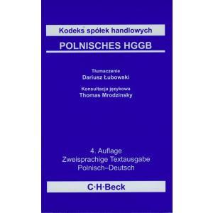 Beck Kodeks Spółek Handlowych Pol-Niem wyd.4