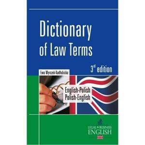 Dictionary of Law Terms Angielsko/Polsko/Angielski 3Ed
