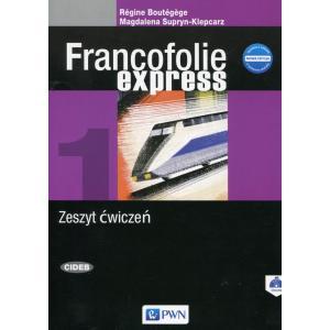 Francofolie express 1 Zeszyt ćwiczeń +CD-Rom nowa edycja