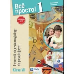Wsio Prosto! 1. Język Rosyjski. Podręcznik Wieloletni + CD. Klasa 7