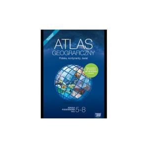 Atlas Geograficzny Polska, Kontynenty, Świat. Szkoła Podstawowa Klasy 5-8