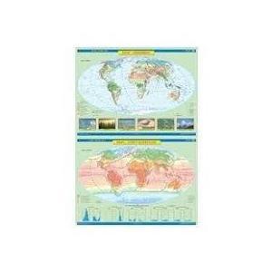 ŚWIAT Mapa ścienna Strefy Klimatyczne / Krajobrazy