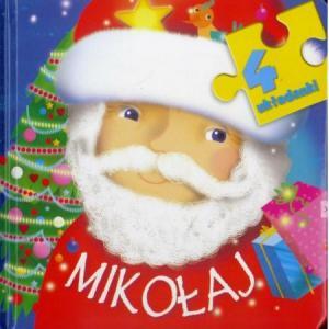 Mikołaj 4 układanki oprawa gąbka