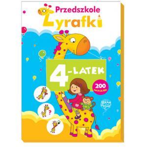 Przedszkole Żyrafki 4-latek + naklejki. Teczka