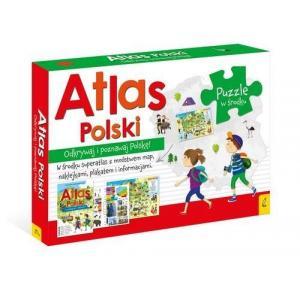 Atlas Polski Pakiet + Puzzle