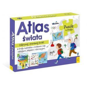 Atlas Świata + Plakat z Mapą + Puzzle