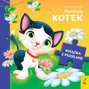 Książka z puzzlami. Nieśmiały kotek