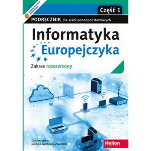 Informatyka Europejczyka. Szkoła ponadpodstawowa. Podręcznik część 1. Zakres rozszerzony