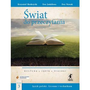 Polski LO 3 Świat do przeczytania Podręcznik