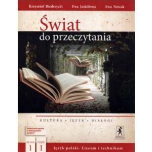 Polski LO 1 Świat do Przeczytania. Podręcznik cz.1 (wieloletni)