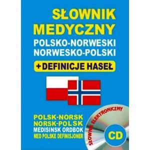 Słownik Medyczny Norwesko-Polsko-Norweski + Definicje Haseł + CD