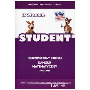 Matematyka z wesołym Kangurem Kategoria Student