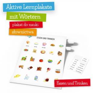 Aktive Lernplakate mit Wörtern - Essen und Trinken (Wersja z Zawieszką)