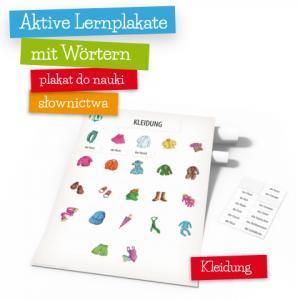 Aktive Lernplakate mit Wörtern - Kleidung (Wersja z Zawieszką)