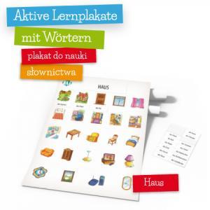 Aktive Lernplakate mit Wörtern - Haus (Wersja z Zawieszką)
