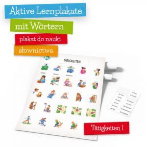 Aktive Lernplakate mit Wörtern - Tätigkeiten 1 (Wersja z Zawieszką)