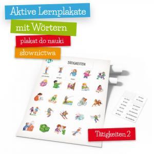 Aktive Lernplakate mit Wörtern - Tätigkeiten 2 (Wersja z Zawieszką)