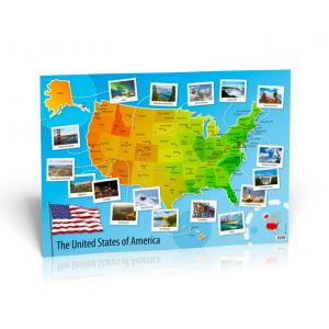 POSTER U.S.A. (The United States of America) Map