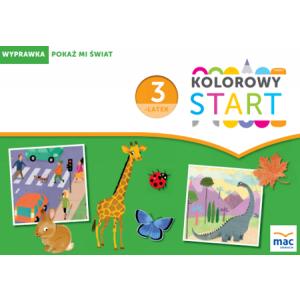 Kolorowy Start 3-Latek. Wyprawka: Pokaż Mi Świat (w Teczce)