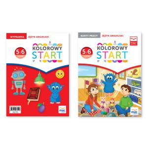Kolorowy Start. 5 i 6 latki. Pakiet Język Angielski (Wyprawka + Karty Pracy)