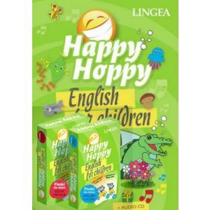 Happy Hoppy English for children Pakiet (książka, fiszki i audio CD)