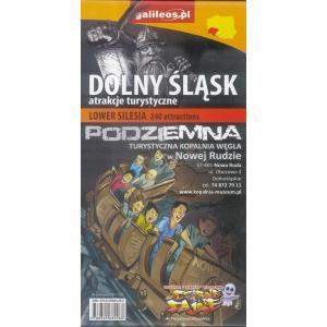 Dolny Śląsk – mapa atrakcji turystycznych – angielska