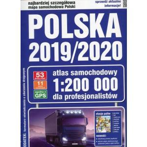 Atlas samochodowy Polski 1:200 000(2019/2020) twarda oprawa