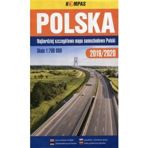 Polska Mapa samochodowa 1:700 000 2019/2020