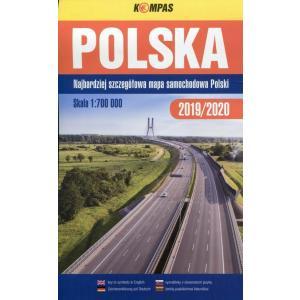 Polska Mapa samochodowa 2019/2020 1:700 000