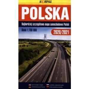 Polska mapa samochodowa 1:700 000. Najbardziej szczegółowa mapa Polski
