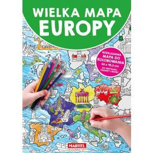 Wielka mapa Europy /kolorowanka/
