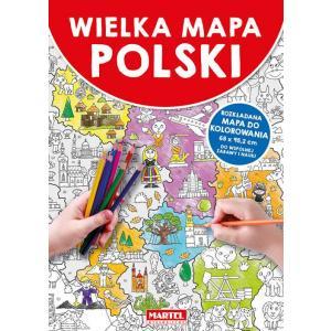 Wielka Mapa Polski /kolorowanka/