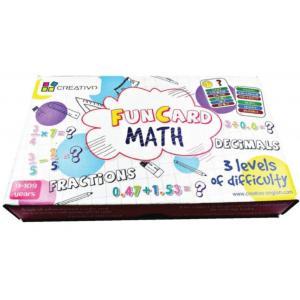 Karty edukacyjne Matematyka Fun Card Math Ułamki zwykłe, dziesiętne