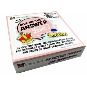 Karty językowe Angielski Give me the answer Level 3