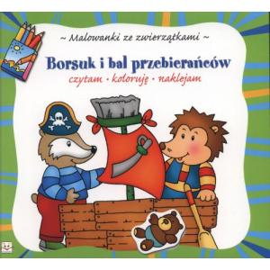 Malowanki ze Zwierzątkami - Borsuk i Bal Przebierańców
