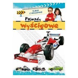 Album z naklejkami - Pojazdy wyścigowe