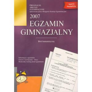 Egzamin gimnazjalny 2007 blok humanistyczny OOP