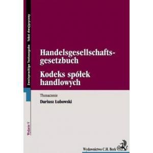 Beck Kodeks Spółek Handlowych  wersja dwujęzyczna polsko - niemiecka