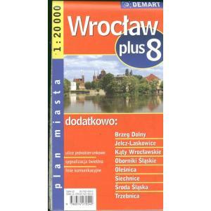 Wrocław plus 8 plan miasta