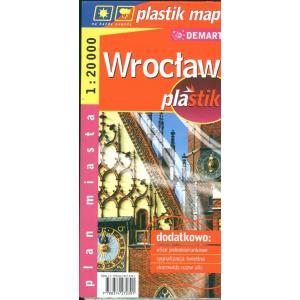 Wrocław laminowany plan miasta demart